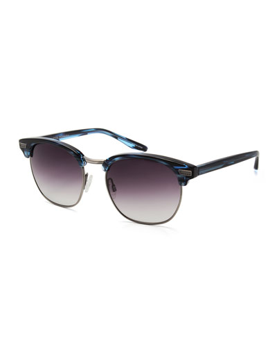 Coxsone Metal & Acetate Sunglasses, Midnight