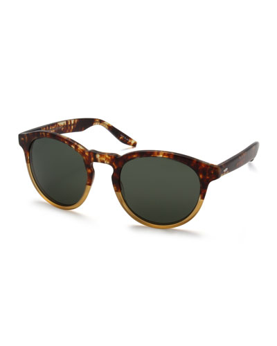 Goodman Two-Tone Acetate Sunglasses, Amber Tortoise