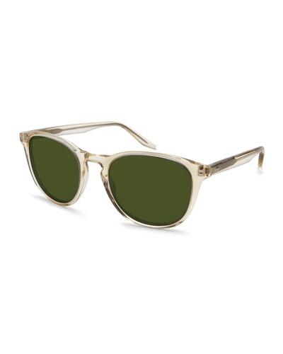 Plim Translucent Round Sunglasses, Champagne