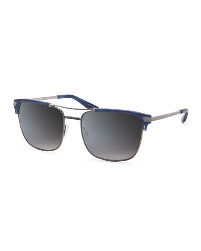 Wexler Matte Cobalt Rectangular Sunglasses