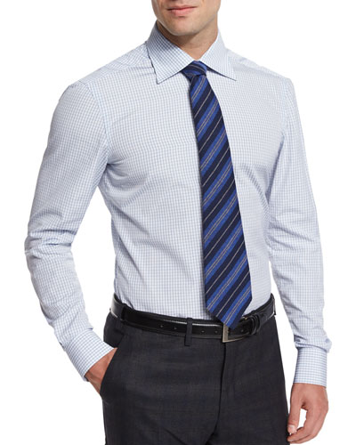Striped Cashmere Tie, Navy