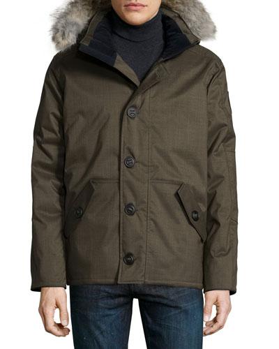 Cumberland Parka Jacket w/Fur-Trimmed Hood