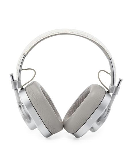 MH40 Over-Ear Headphones, White/Silvertone