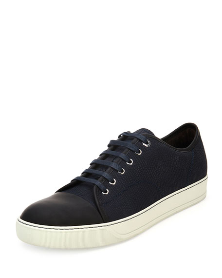 clearance very cheap cheap sale new Lanvin Embossed Leather Sneakers original online tunT2lE