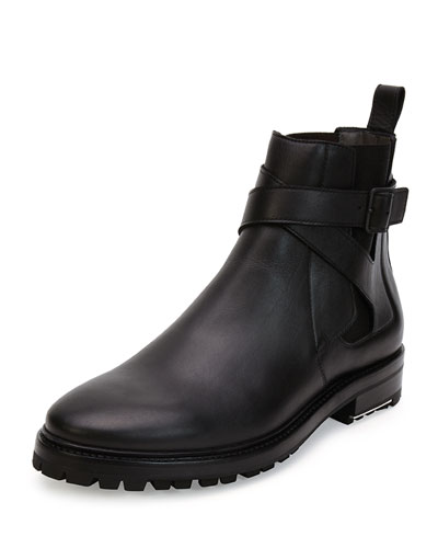 Calfskin Lug-Sole Chelsea Boot, Black