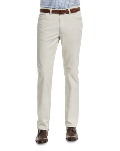 Five-Pocket Stretch Pants, Sand