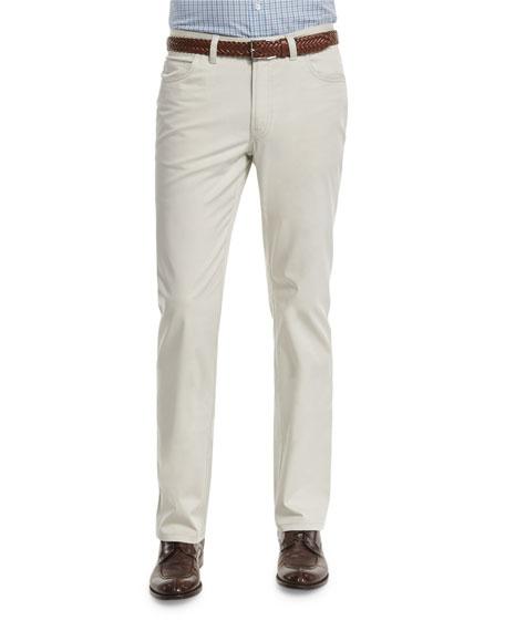 Five-Pocket Stretch Pants, Sand
