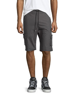 Cotton Cargo Shorts, Charcoal