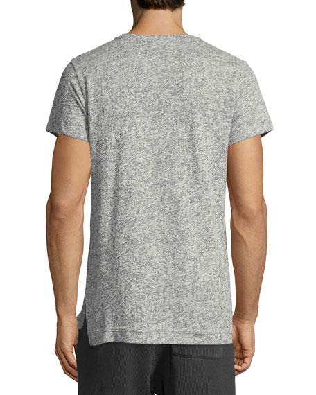 Short-Sleeve Cotton-Blend T-Shirt, Gray