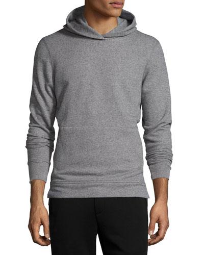 Long-Sleeve Cotton Hoodie Sweatshirt, Dark Gray