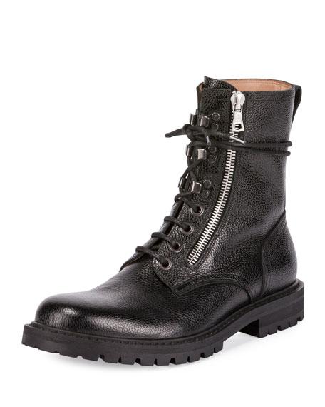 Dries Van Noten Men's Leather Side-Zip