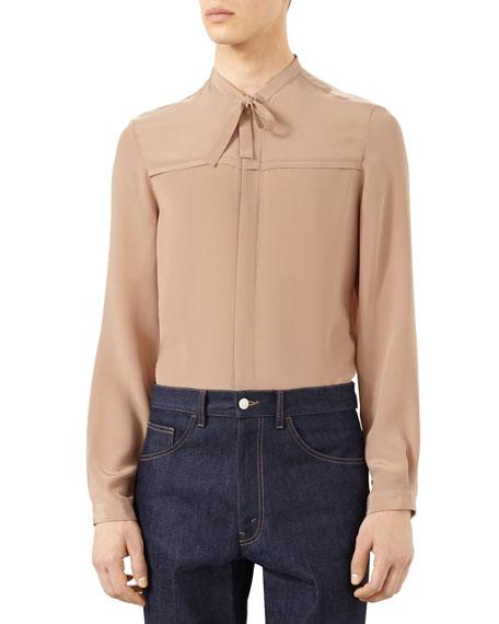 740674607910 Gucci Cashmere Pajama Jacket, Silk Crepe Cambridge Shirt & Dark ...