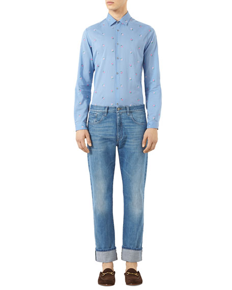 Blue Jeans with Web, Stone Wash