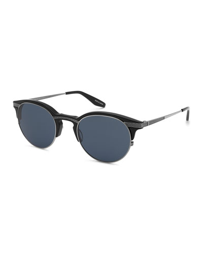 Roux Round Sunglasses, Pewter/Vintage Gray