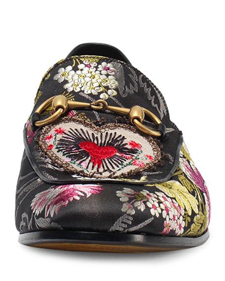 81ff72611 Gucci Jordaan Jacquard Horsebit Loafer, Black