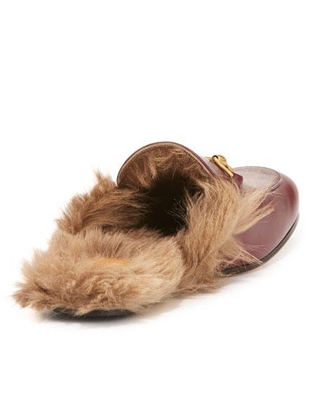 Men's Princetown Kangaroo Fur-Lined Slipper, Red