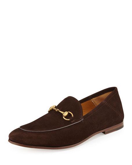 0715b0effaf Gucci Brixton Suede Horsebit Loafer