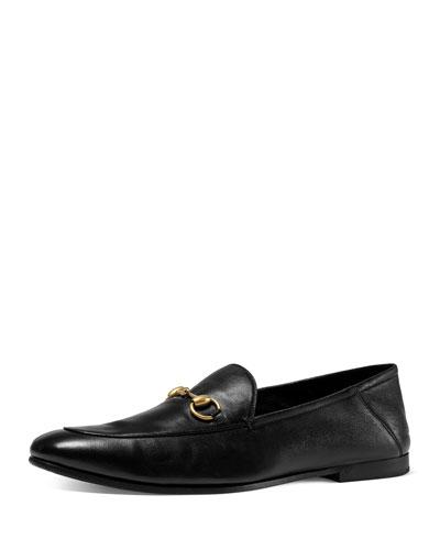 Brixton Leather Horsebit Loafer, Black