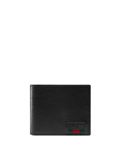 Leather Wallet with Mini Web, Back