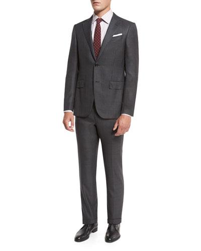 Trofeo 600 Plaid Suit, Charcoal