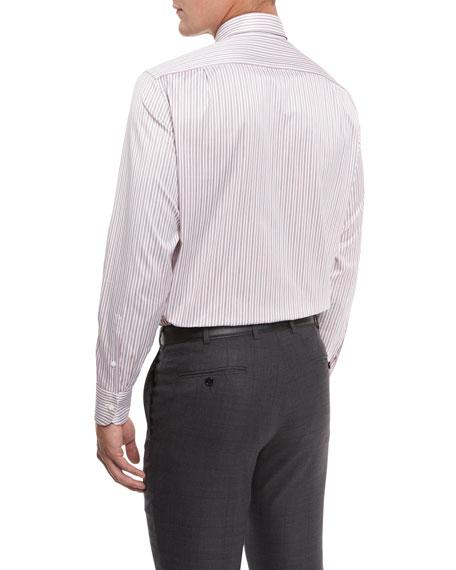 Striped Trofeo Dress Shirt, Red