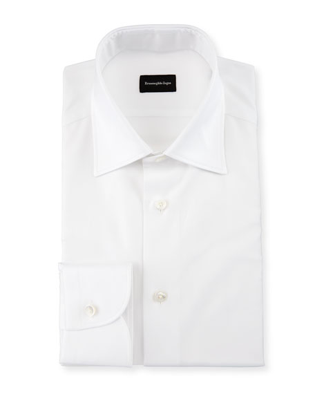 Solid Trofeo Dress Shirt, White