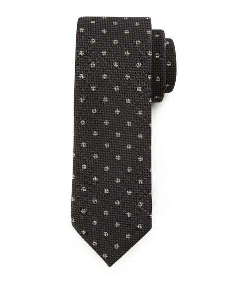 Trofeo Wool Dot Tie, Gray