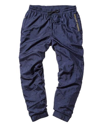 Nylon Wind Pants, Navy