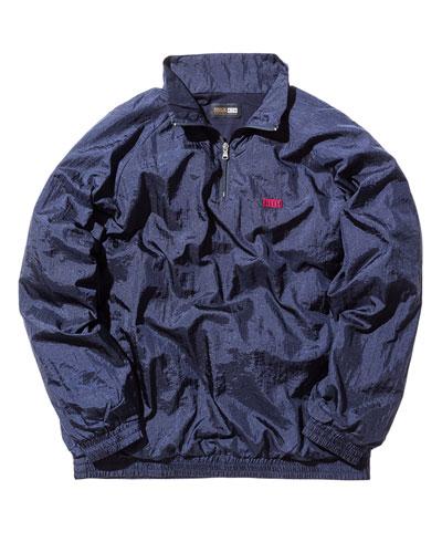 Nylon Pullover Jacket, Navy