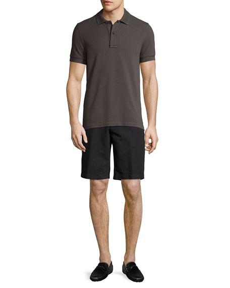 Cotton-Linen Straight-Leg Shorts