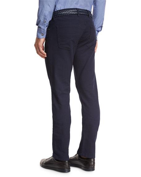 Slim-Fit Straight-Leg Jeans, Navy