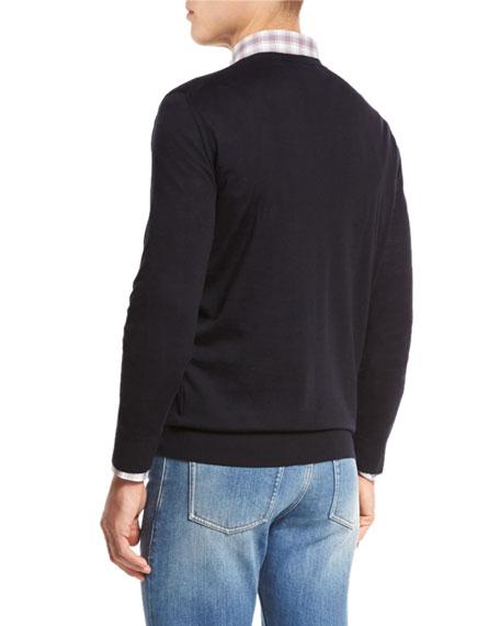 High-Performance Merino Wool Crewneck Sweater, Navy