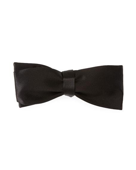 TOM FORD Self-Tie Satin Bow Tie, Black