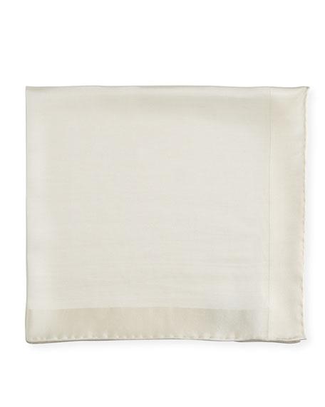 Silk Twill Classic Pocket Square, White