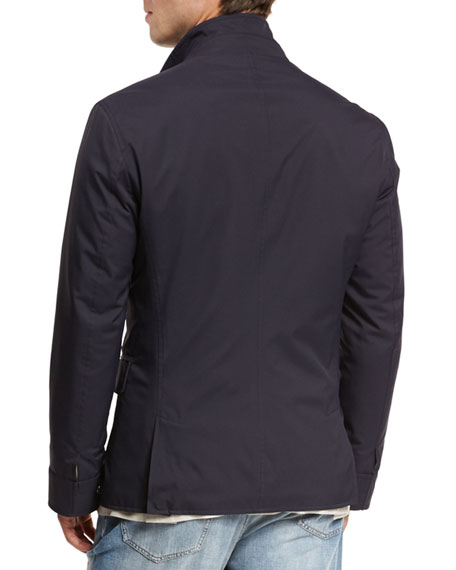 Nylon Sport Jacket, Navy