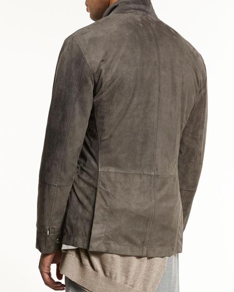 Lamb Suede Sport Jacket, Gray