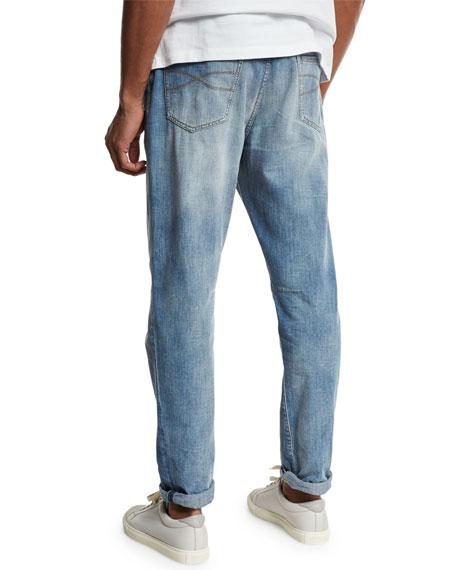 Leisure-Fit Straight-Leg Denim Jeans, Light Blue
