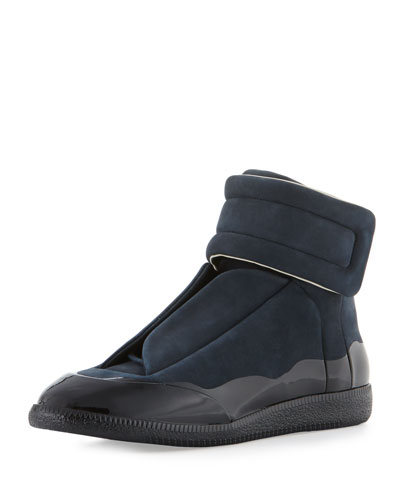 Men's Dipped Suede Future High-Top Sneaker, Navy