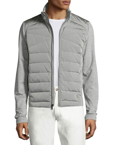 French Terry Full Hybrid Jacket Light Gray