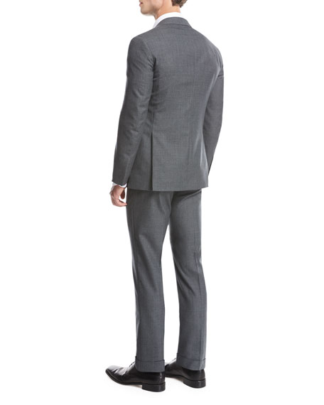 Fresco Wool Two-Piece Suit, Gray