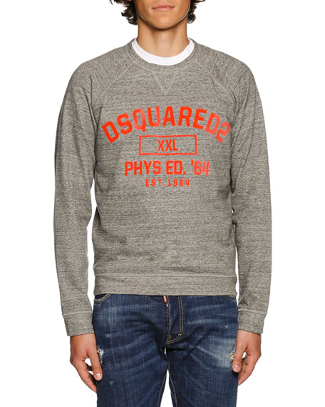 Dsquared2 Heather Varsity Sweatshirt, Dark Gray