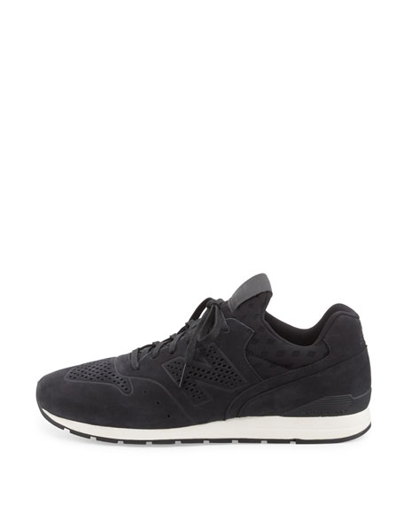 696 Deconstructed Lace-Up Sneaker, Black
