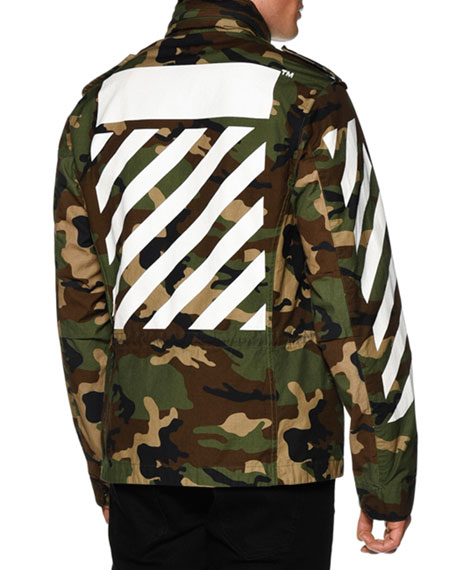 5711f19c3d731 Off-White M65 Camo-Print Zip Jacket, White