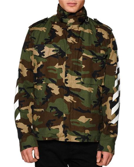 M65 Camo-Print Zip Jacket, White