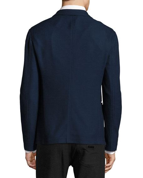 Piqué Knit Soft Jacket, Navy