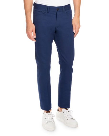 Berluti Five-Pocket Slim-Straight Jeans, Navy Blue