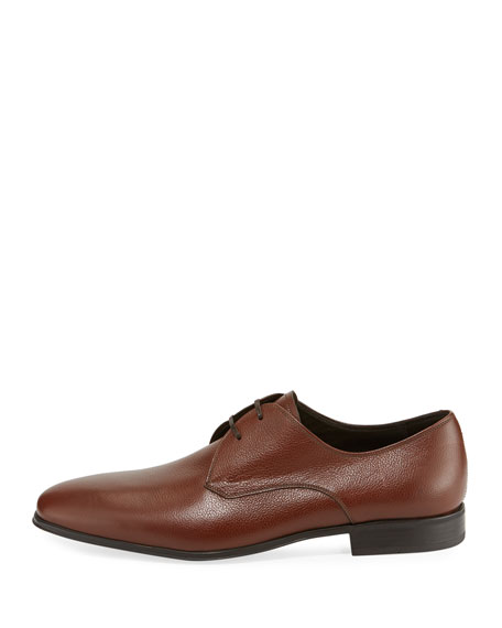 Calf Leather Dress Oxford, Tan/Camel