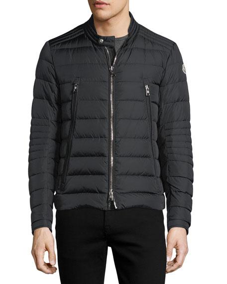 Amiot Short Moto Puffer Jacket
