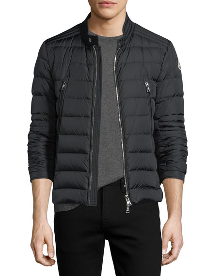 Moncler Amiot Short Moto Puffer Jacket