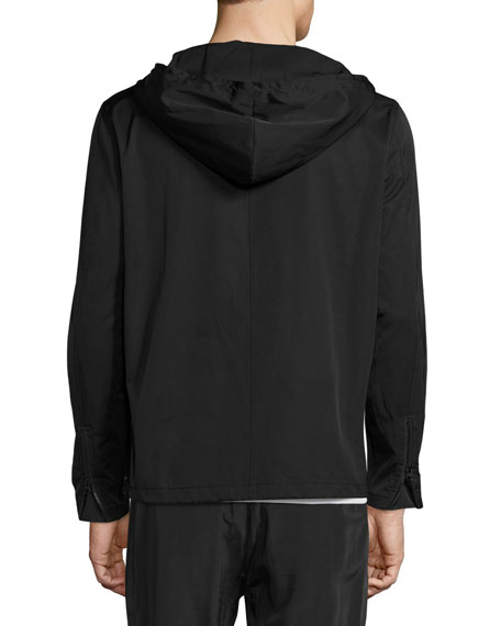 Hooded Anorak Pullover, Black